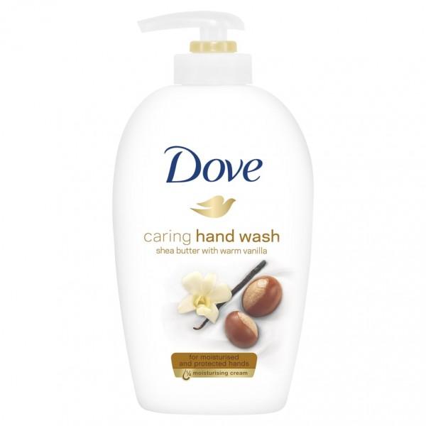 Հեղուկ օճառ Dove caring hand wash Շի յուղ և վանիլ 250 մլ.