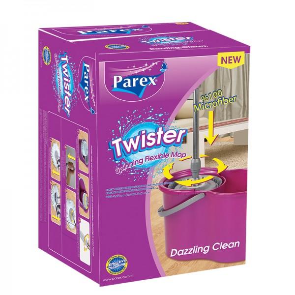 Մաքրման հավաքածու պտտվող մեխանիզմով Parex Twister