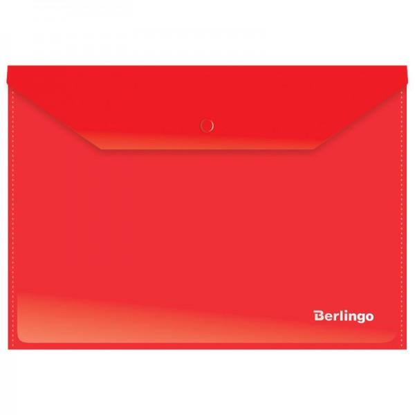 Թղթապանակ կոճակով Berlingo A4 կարմիր
