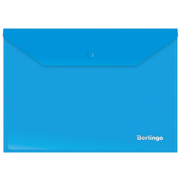 Թղթապանակ կոճակով Berlingo A4 կապույտ