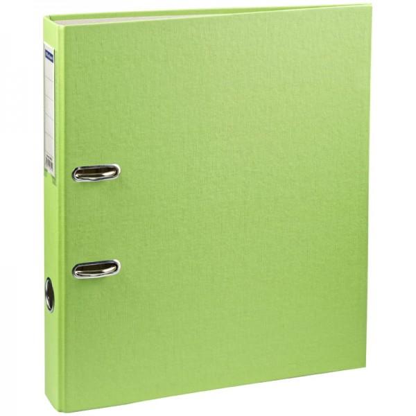 Թղթապանակ օղակներով OfficeSpace բումվինիլ, գրպանիկով A4, 50 մմ բաց կանաչ