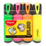 Մարկերների հավաքածու Maped Fluo Pep's Classic 4 գույն