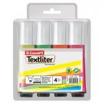 """Մարկերների հավաքածու Luxor """"Textliter"""" 4 գույն"""