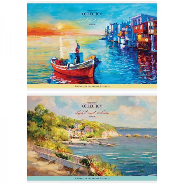 Նկարչական ալբոմ ArtSpace Վինտաժ, Բնապատկերներ A4, 24 թերթ