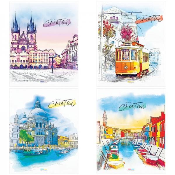 """Տետր ArtSpace """"Watercolor city"""" 48 թերթ, տողանի"""