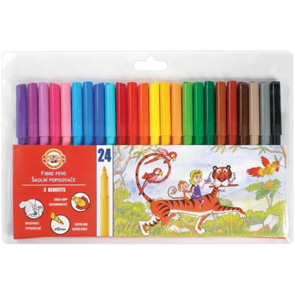 Ֆլոմաստերներ Koh-I-Noor կենդանիներ 24 գույն