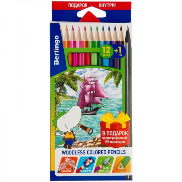 Գունավոր մատիտներ Berlingo «Корабли» 12 գույն+1 սև HB