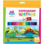 """Գունավոր մատիտներ ArtSpace """"Динозаврики"""" 24 գույն"""