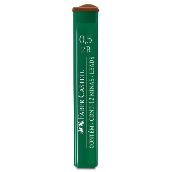 Մեխանիկական մատիտի միջուկ Faber Castell 0,5 մմ, 2B, 12 հատ