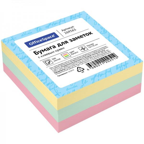 Նշումների կպչուն գունավոր թերթիկներ OfficeSpace 300 հատ