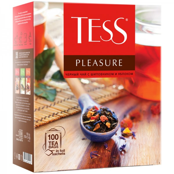 Թեյ Tess Pleasure, 100 հատ